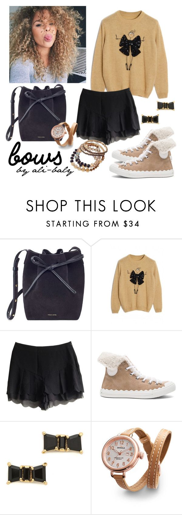 """""""Untitled #669"""" by ali-baly ❤ liked on Polyvore featuring Mansur Gavriel, Chloé, Kate Spade, Shinola and INC International Concepts"""