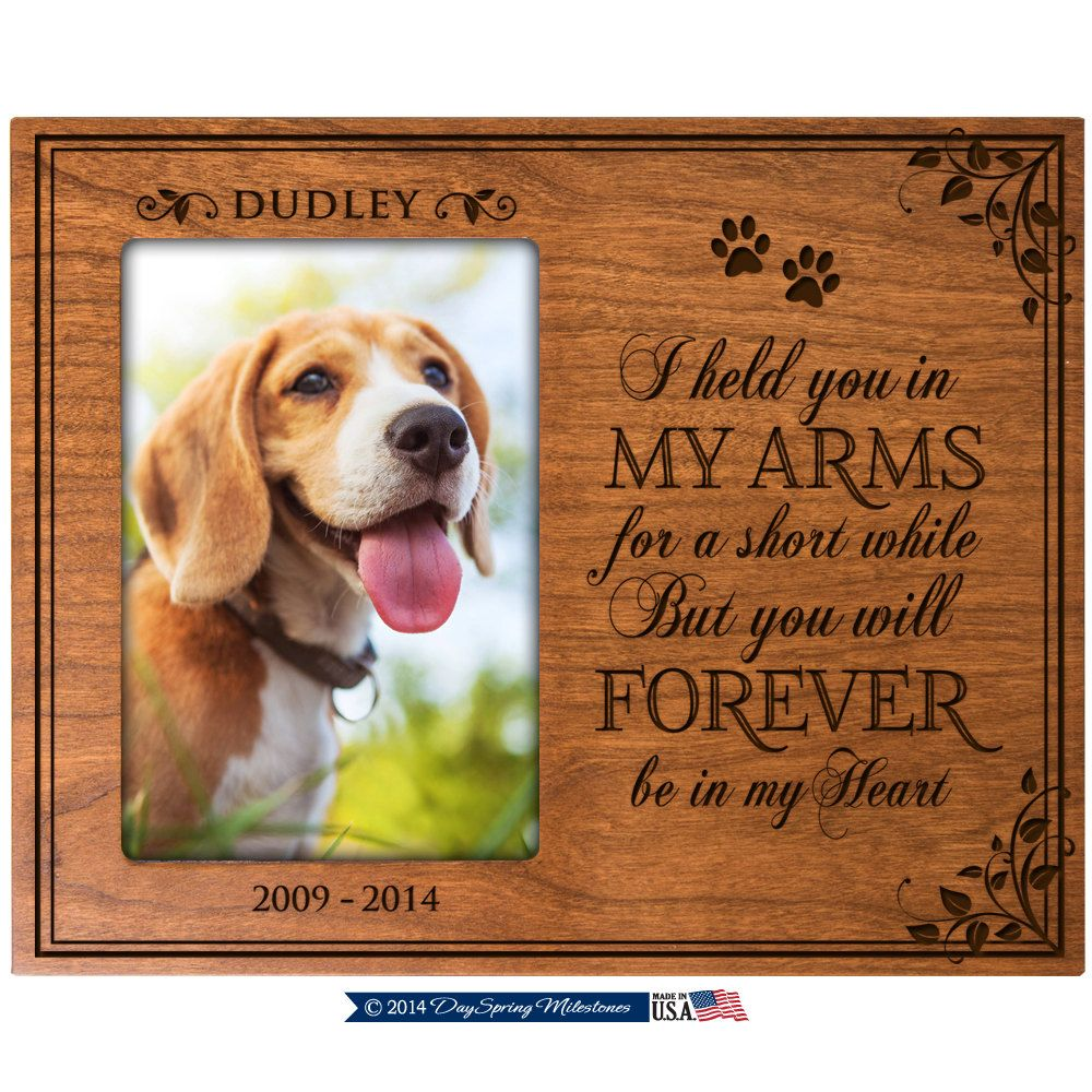 In Loving Memory Gifts, Pet Memorial gift ,Pet memorial frame, Dog ...