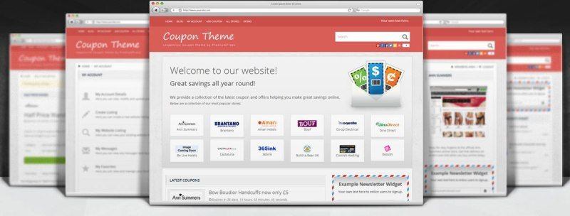 Built Affiliate Earning Site with Responsive Coupon WordPress - example of a coupon