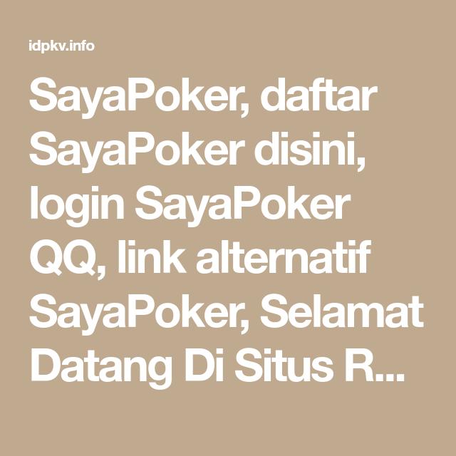 Pin Di Agen Judi Poker Online Dan Domino Qq Terlengkap Hanya Di Situs Resmi Kami Idpkv Info
