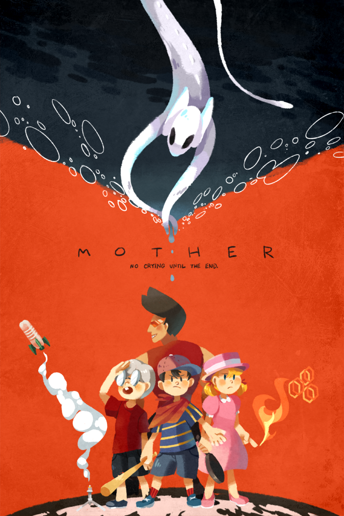 No crying until the end. Mother Series Mother games