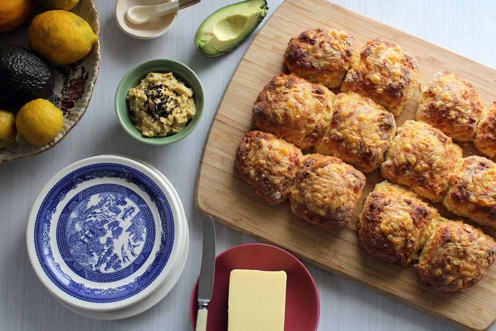 There is not much more comforting than a traditional cheese scone. I  absolutly love them. It's not something I eat very often at all these days  but this past summer we had them on the menu at Little Red so under the  tutelage of my partner's mum Susan I had to pull my weight with the baking  duties for the busy weeks over xmas. Susan makes AMAZING cheese scones.  They always sell out and have incredibly dedicated fans. Picking up the  mantel from her some mornings and doing the baking was…