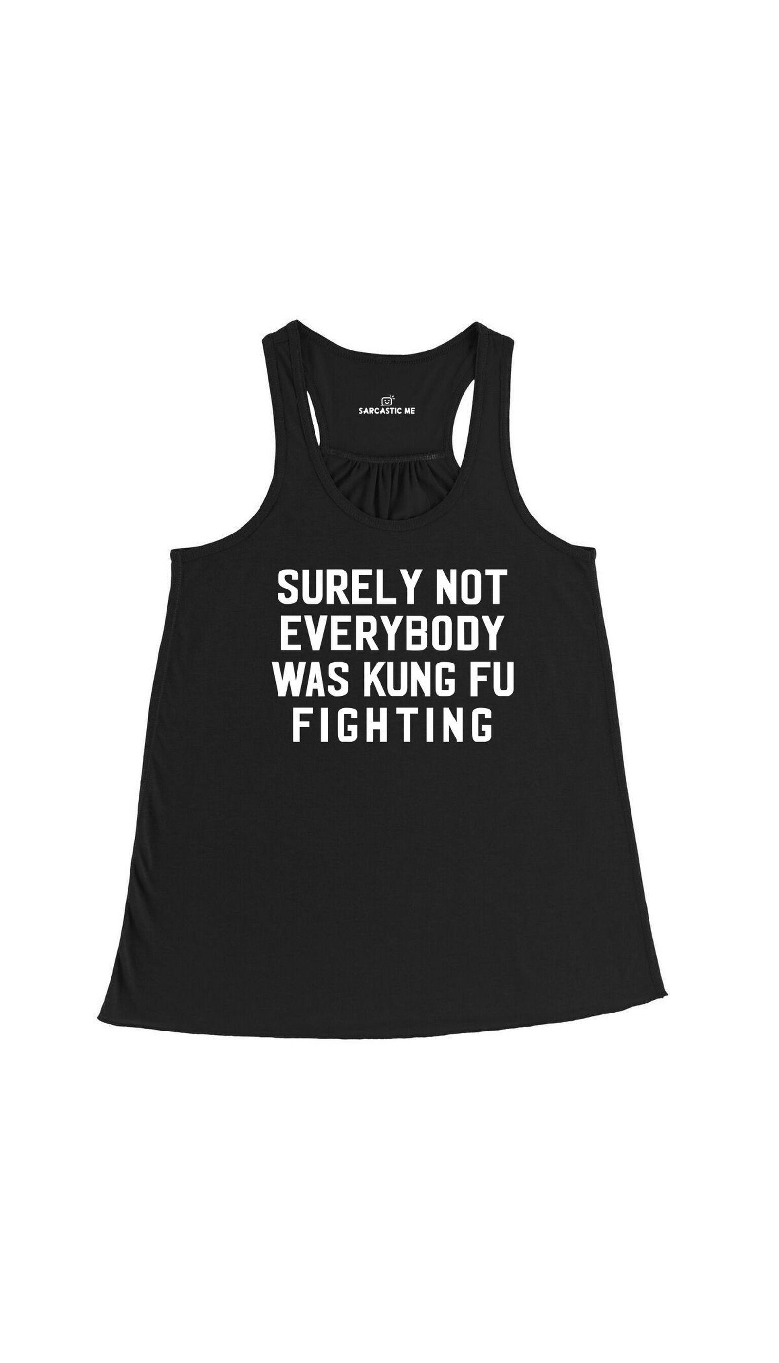 Surely Not Everybody Was Kung Fu Fighting Funny Black Basic Tank Top