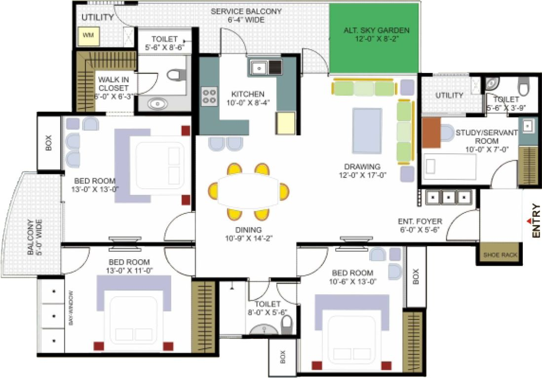 House floor plans and designs big house floor plan house Floor plan of a modern house