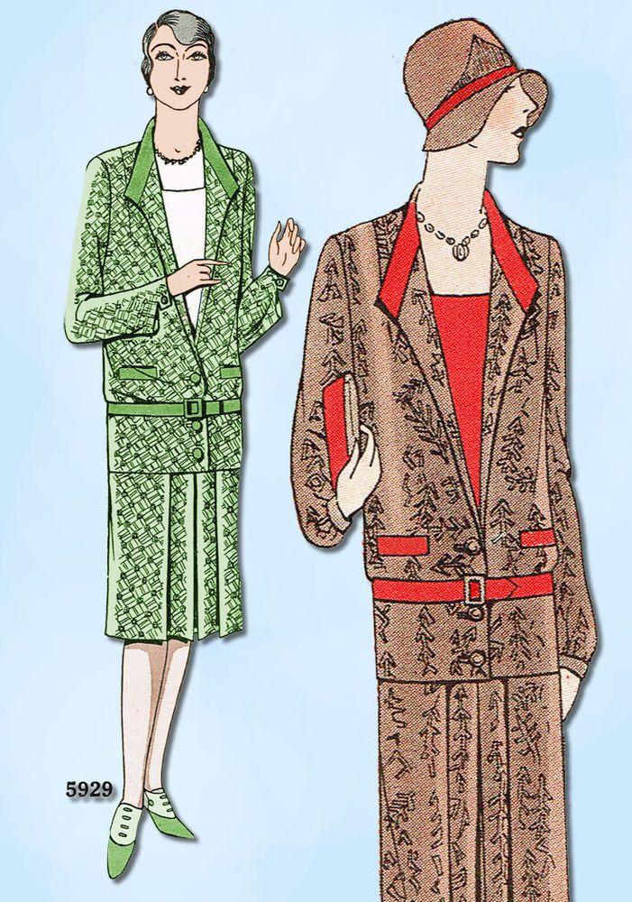 1920s VTG Ladies Home Journal Sewing Pattern 5929 Uncut Ladies ...