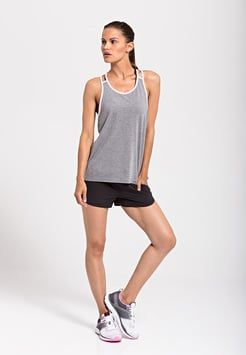Even&Odd active - Funktionsshirt - mid grey melange