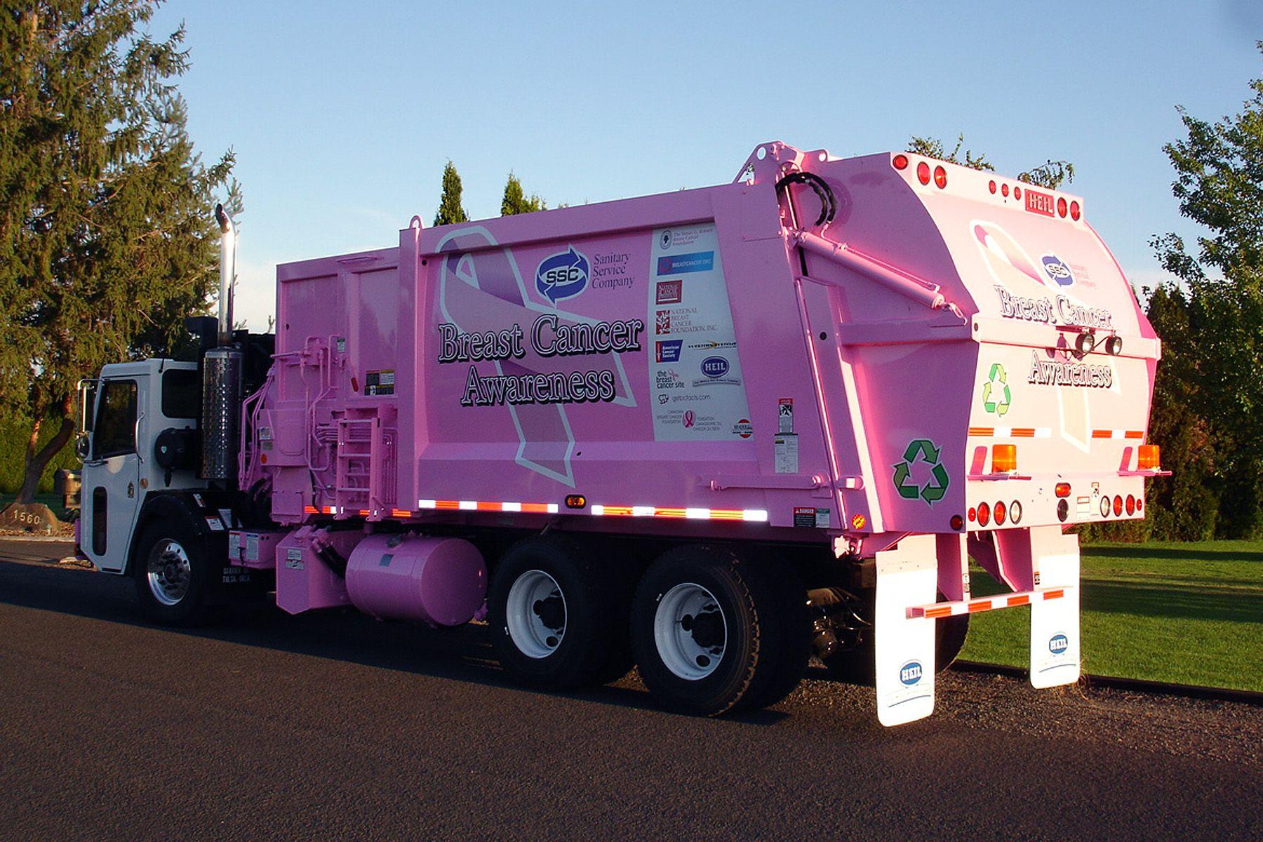 Durapack python garbage truck breast cancer heil