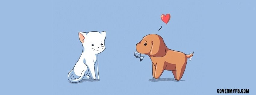 Dog In Love With A Cat Facebook Dog Facebook Cover Dog Love