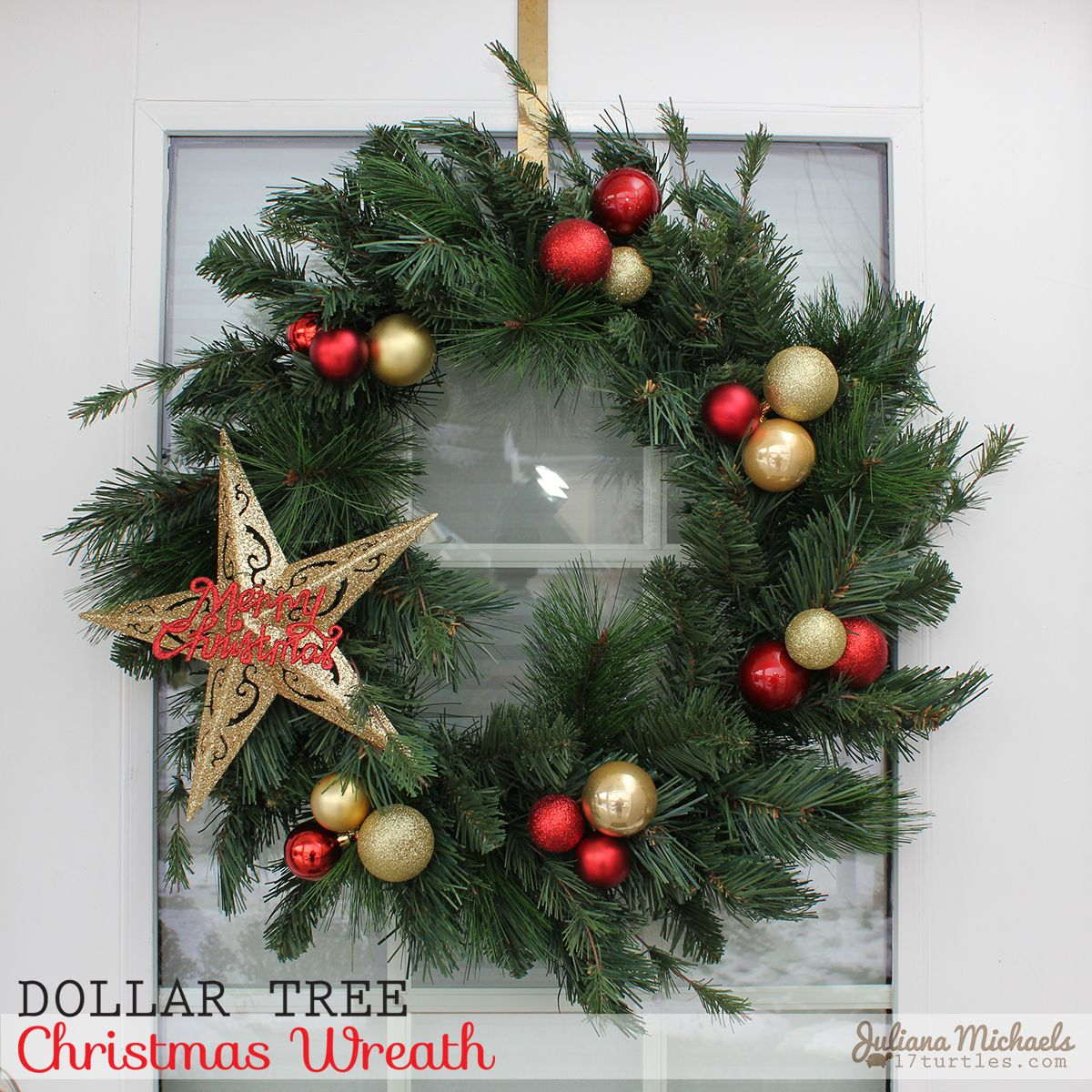 Dollar Tree Christmas Wreath And Garland By Juliana Michaels Diverse
