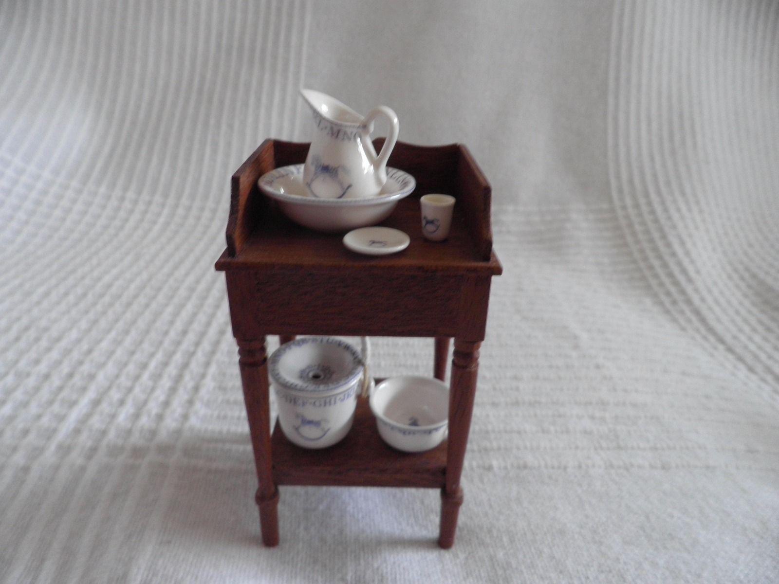 House miniature 1 12 scale bathroom walnut victorian bath tub amp boiler - 1 12th Scale Stokesay Ware Victorian Nursery Potty