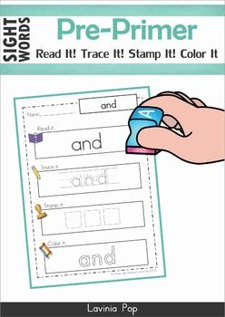 Sight words read it trace it stamp it color it pre primer sight words read it trace it stamp it color it pre primer words sciox Image collections