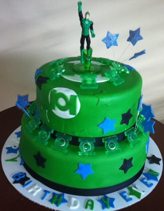 Brilliant Green Lantern Cake By Roscoe Bakery Green Lantern Cake Custom Funny Birthday Cards Online Amentibdeldamsfinfo
