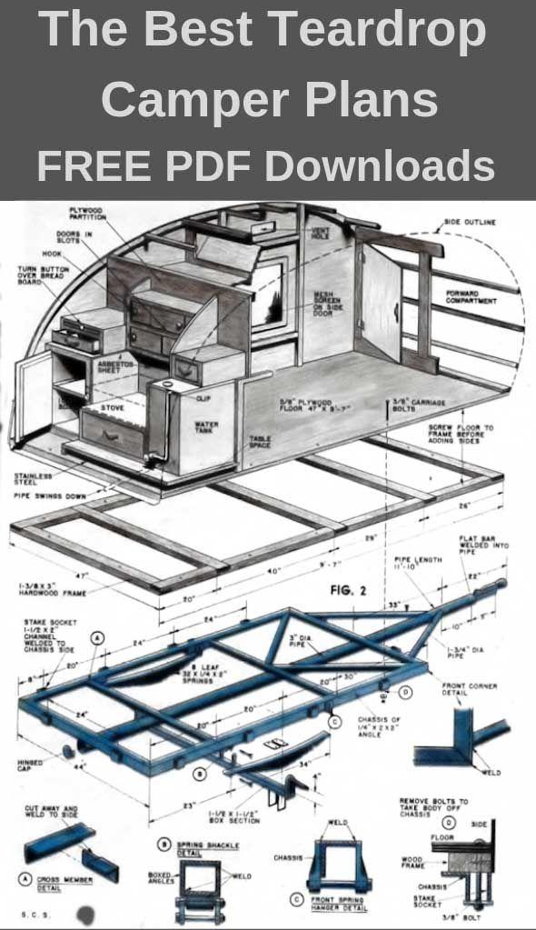 Photo of Teardrop Camper Plans – 11 Free DIY Trailer Designs (PDF Downloads)