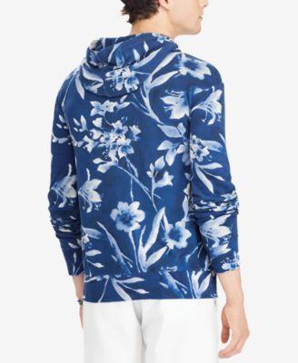 2f7c4a16acc93 Polo Ralph Lauren Men s Floral-Print Spa Terry Hoodie - Blue Rincon Floral  XXL