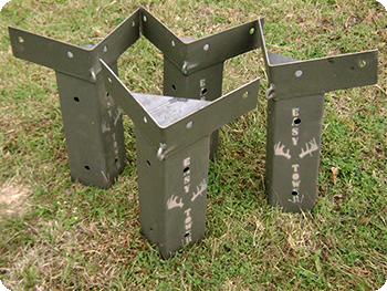 E z tower deer blind brackets d hunting stuff for Box blind platform