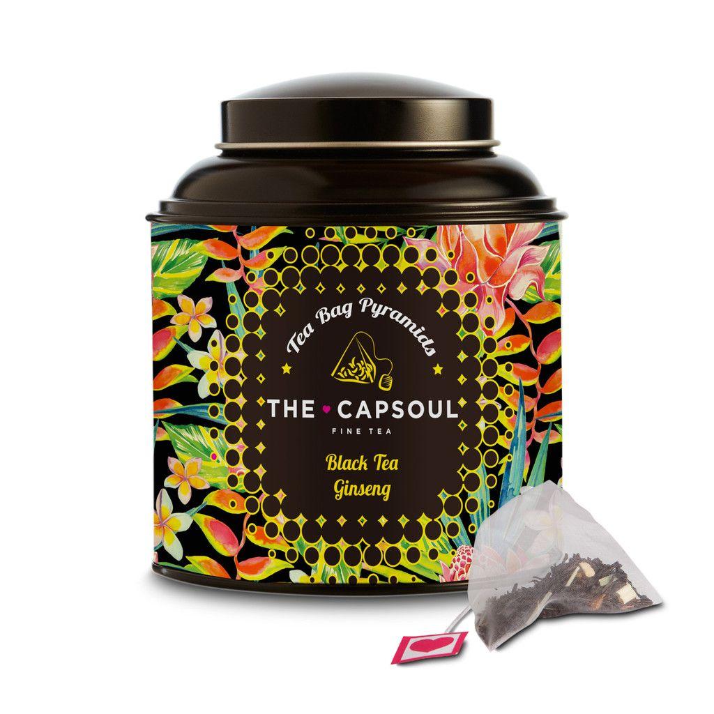 Ginseng Black Tea Pyramid – The Capsoul Coffee & Tea