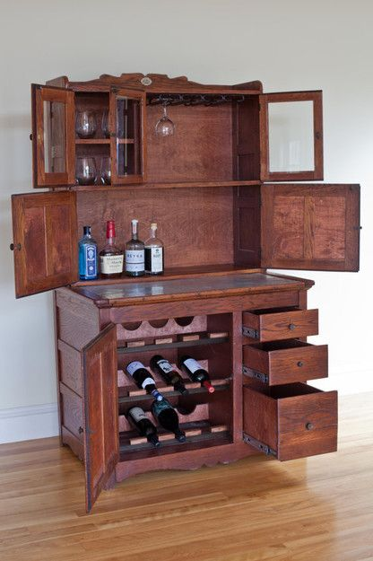 Antique Hoosier Liquor Cabinet