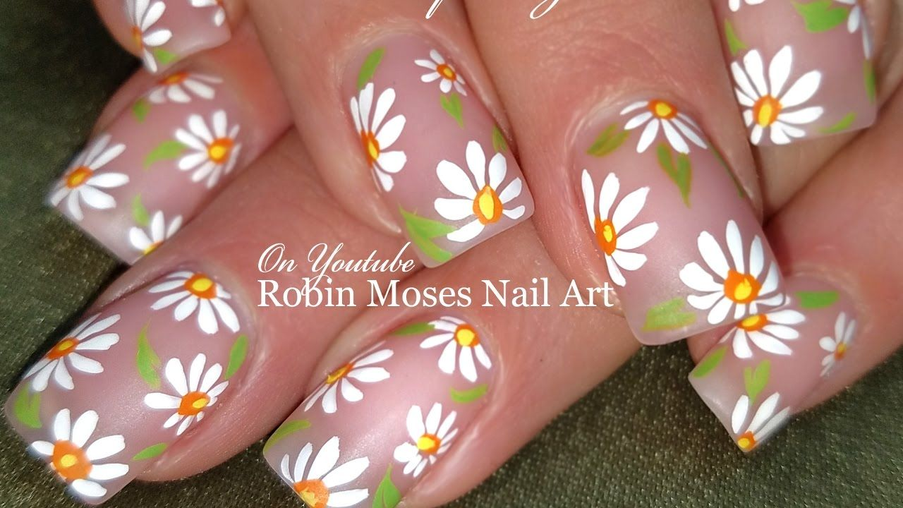 DIY Easy White Daisy Nails | Simple Spring Nail Art Design Tutorial ...