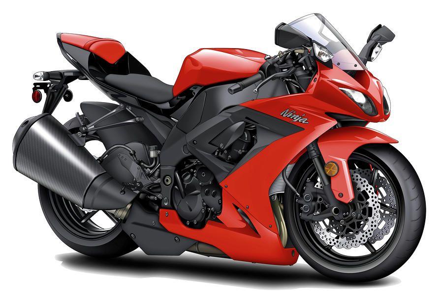 Kawasaki Ninja Red Motorcycle By Maddmax Kawasaki Ninja Red