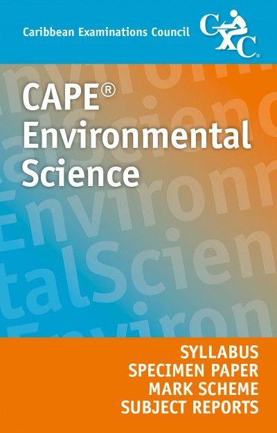 Cape Environmental Science Syllabus Specimen Paper Mark Scheme