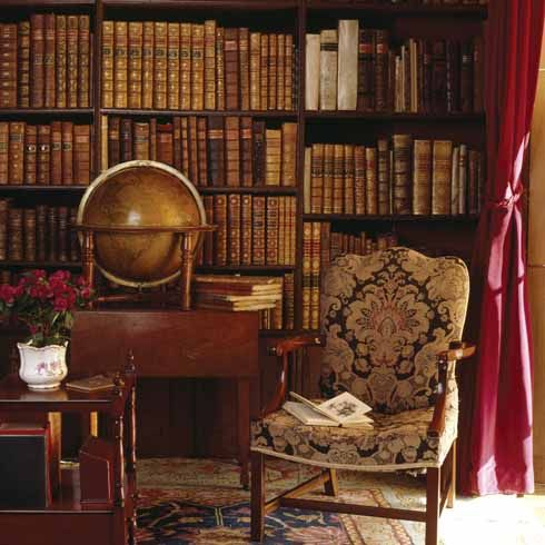 A detailed picture of the interior of The Library at Kingston Lacy, Dorset via Dorset Life