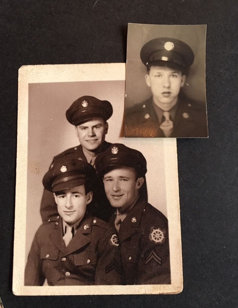 Lot of 2 Vintage Photographs Military Soldiers Pictures  | eBay