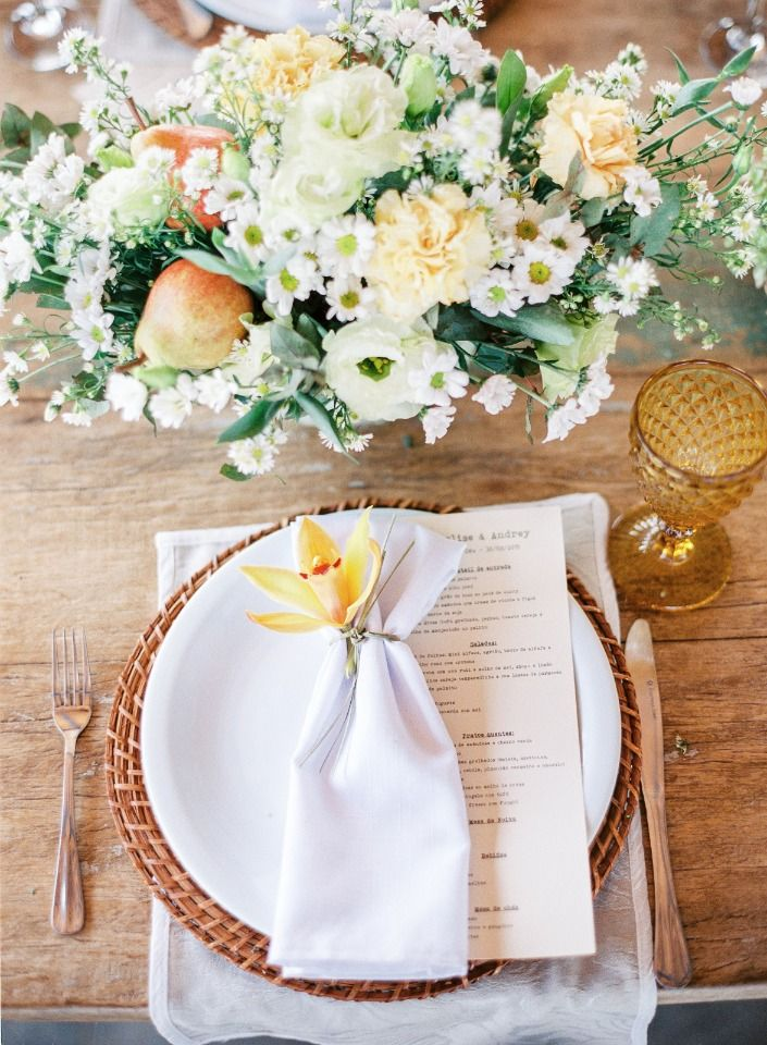 Youll want to hop the next jet to brazil after seeing this wedding soft and summery wedding table decor junglespirit Choice Image