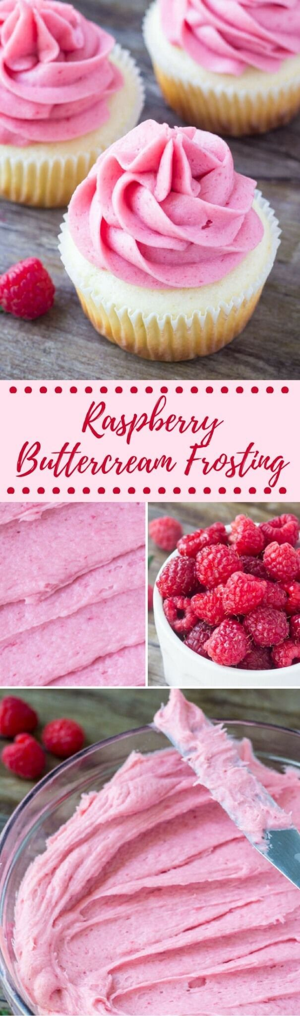 Raspberry Buttercream Frosting - Fresh or Frozen Berries
