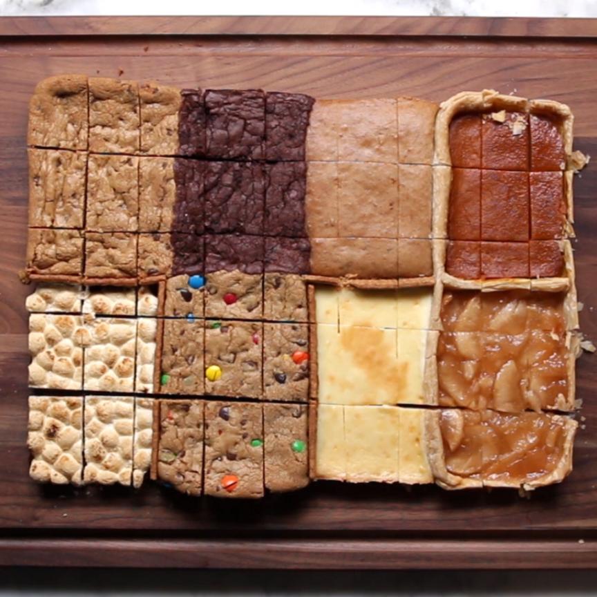 Que Cocinar Para Un Pleaños | 8 Desserts In 1 Pan Receta Postres Comida Y Recetas