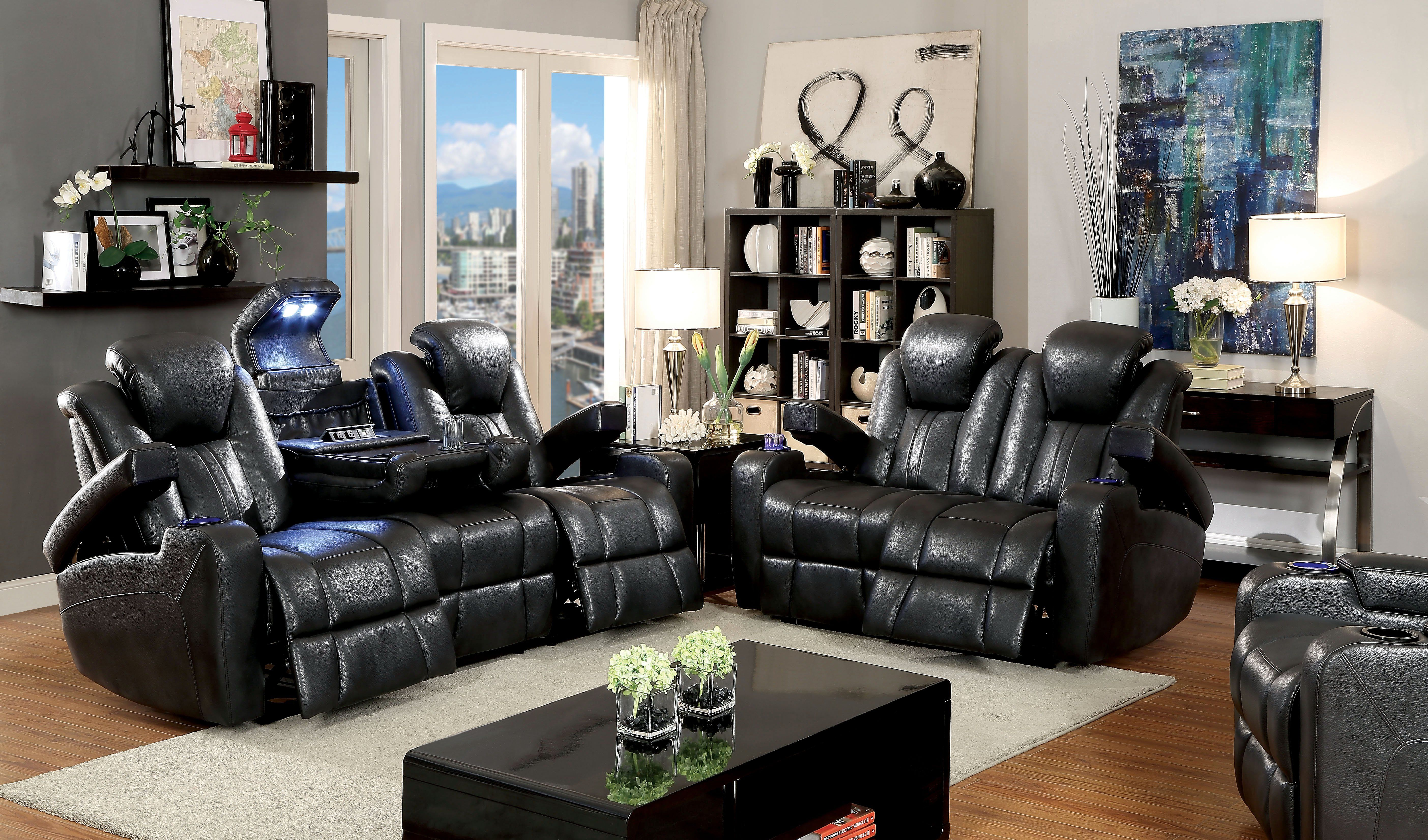 Phenomenal Janis Contemporary Breathable Leather Recliner Sofa Dark Home Interior And Landscaping Palasignezvosmurscom
