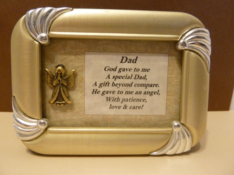 Framed art fathers day birthday guardian angel