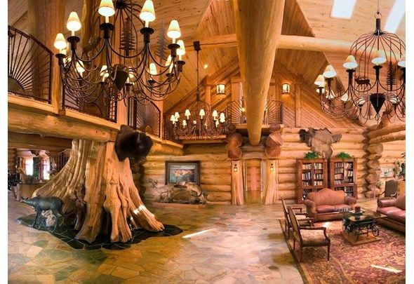 Timber Kings Most Spectacular Homes Living Room Loft Loft Designs Log Home Interiors