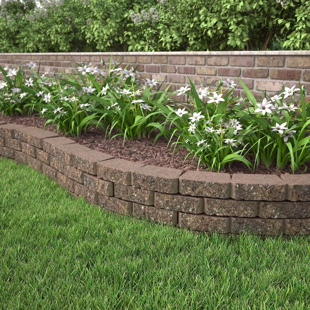 Pavestone 3 In X 10 In X 6 In Sierra Blend Concrete Retaining Wall Block 80777 The Ho Landscaping Retaining Walls Concrete Retaining Walls Backyard Fences