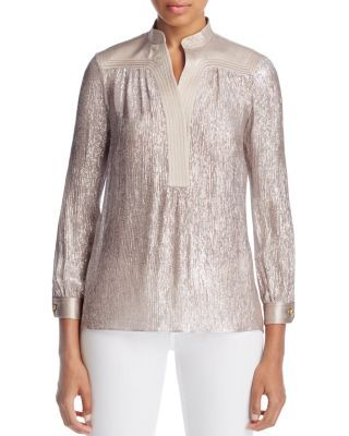 Very pretty. Love the color and shine! Tory Burch Caspian Metallic Tunic | Bloomingdale's