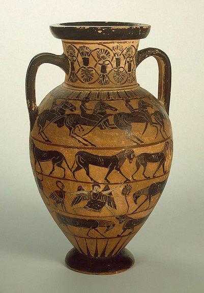 amphora horseman 570bc