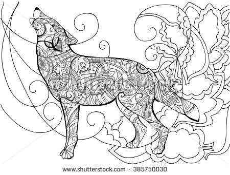 Wolf. Animal. Coloring with a wolf. Wolf coloring coloring book for ...