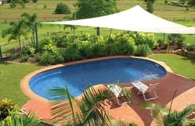 Inground Fibergl Pools Pool Shade