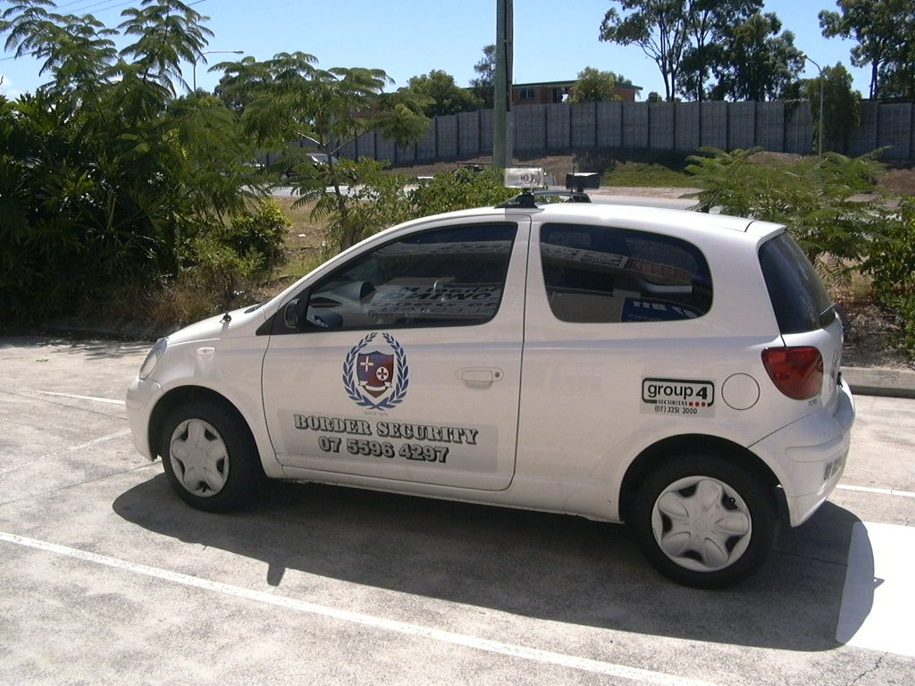 toyota echo security vehicle vehicle graphics small cars signs gold coast pinterest. Black Bedroom Furniture Sets. Home Design Ideas