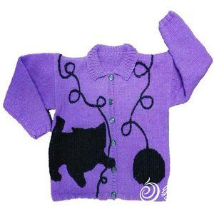 Trẻ em áo len đan kiểu nghịch ngợm con mèo con