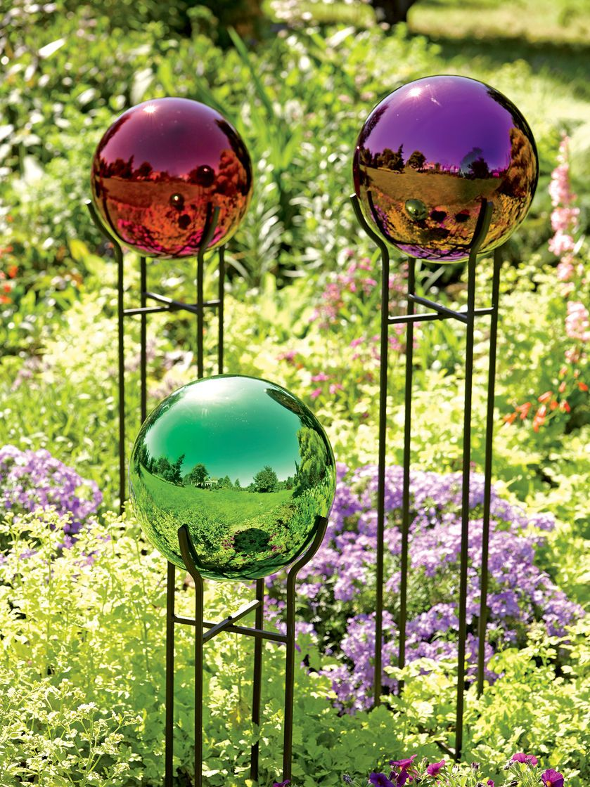 Solar Glass Spirit Orb Solar Globe Light Gardener S Supply Sadovye Shary Sadovye Idei Betonnye Podelki