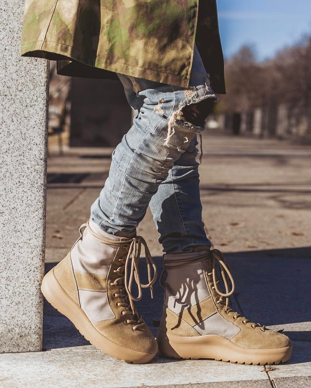 best cheap 6a406 f8bb6 Pin by Streetwear on Shoes boost nike, vans, adidas,   more   Pinterest   Yeezy  season 3 boots, Mens fashion and Yeezy season