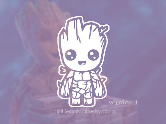 baby groot decal - guardians of the galaxy vol. 2 sticker vinyl