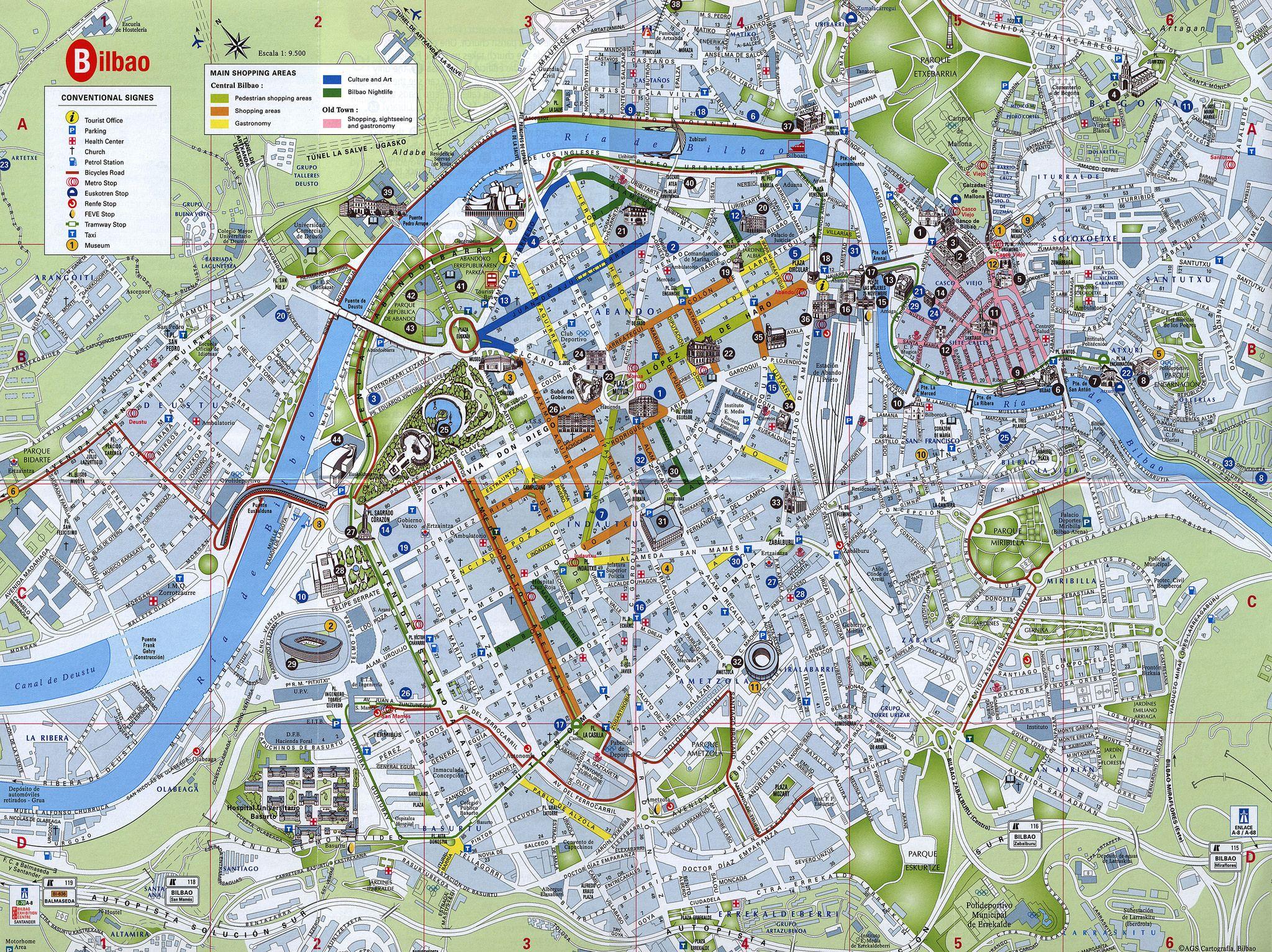 bilbao karta Bilbao planoa plano map plan; 2015_2, Bizkaia r., Euskadi/ Basque  bilbao karta