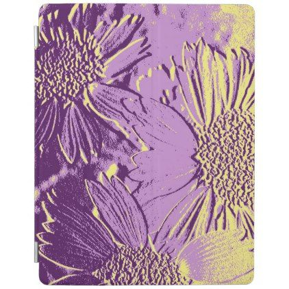 Abstract Flowers 3 Cute Floral iPad Smart Cover - floral style flower flowers stylish diy personalize