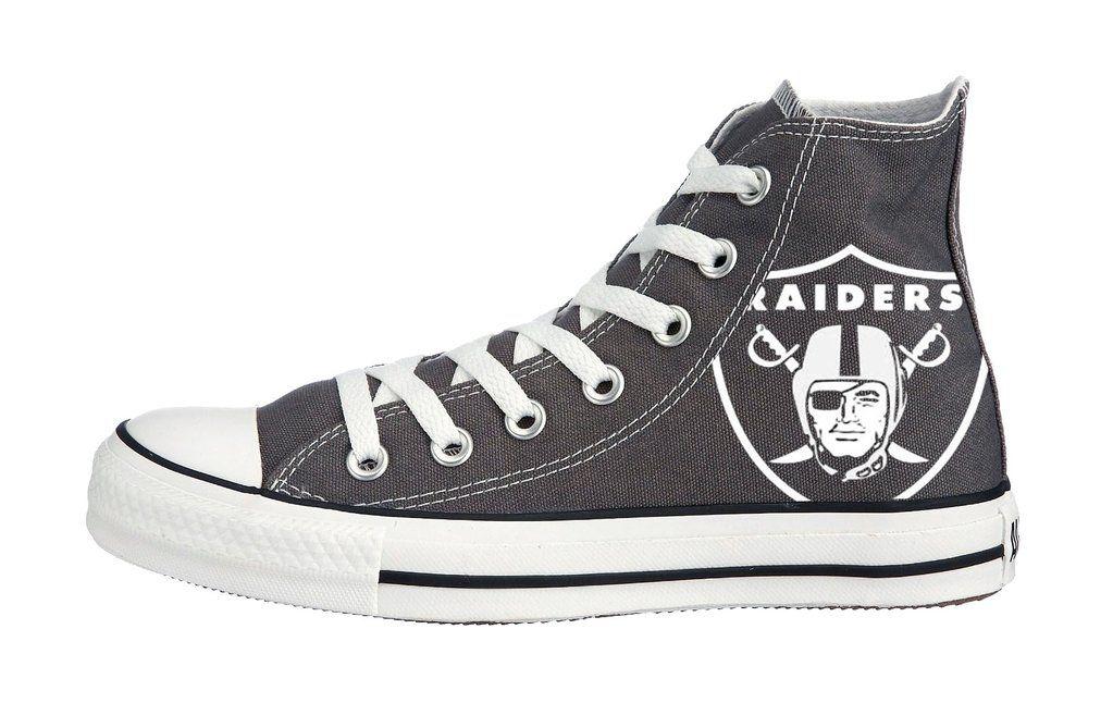 Customized Oakland Raiders Converse