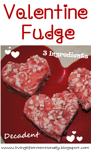 3 ingredient Easy Valentine Fudge! It is SOOOOO yummy!   Kid ...