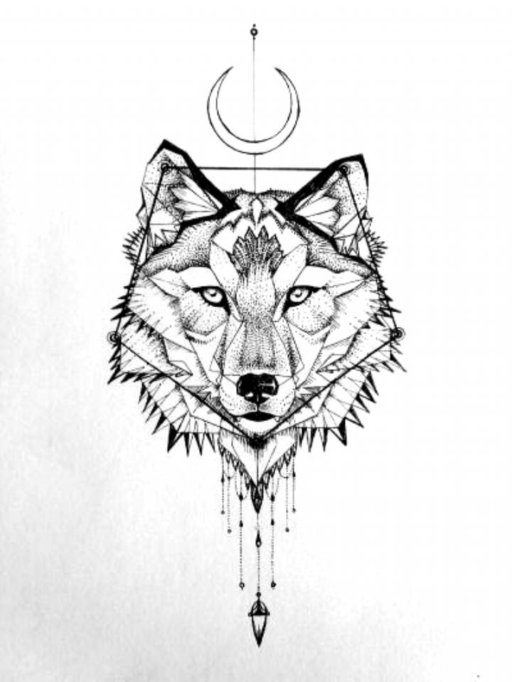 90 Geometric Wolf Tattoo Designs For Men Manly Ink Ideas Geometric Wolf Tattoo Tattoos For Guys Wolf Tattoo Design