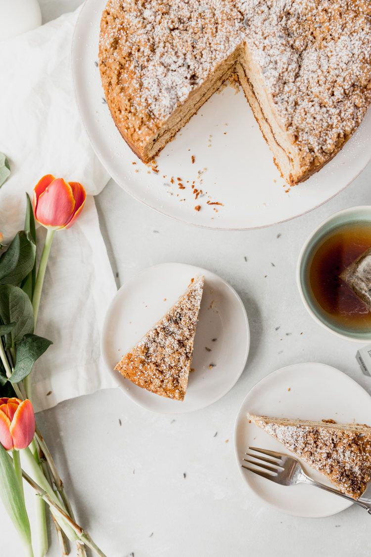 Earl grey lavender coffee cake recipe with images