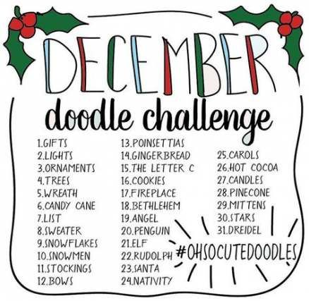 Trendy Drawing Challenge Doodle 30 Day Ideas