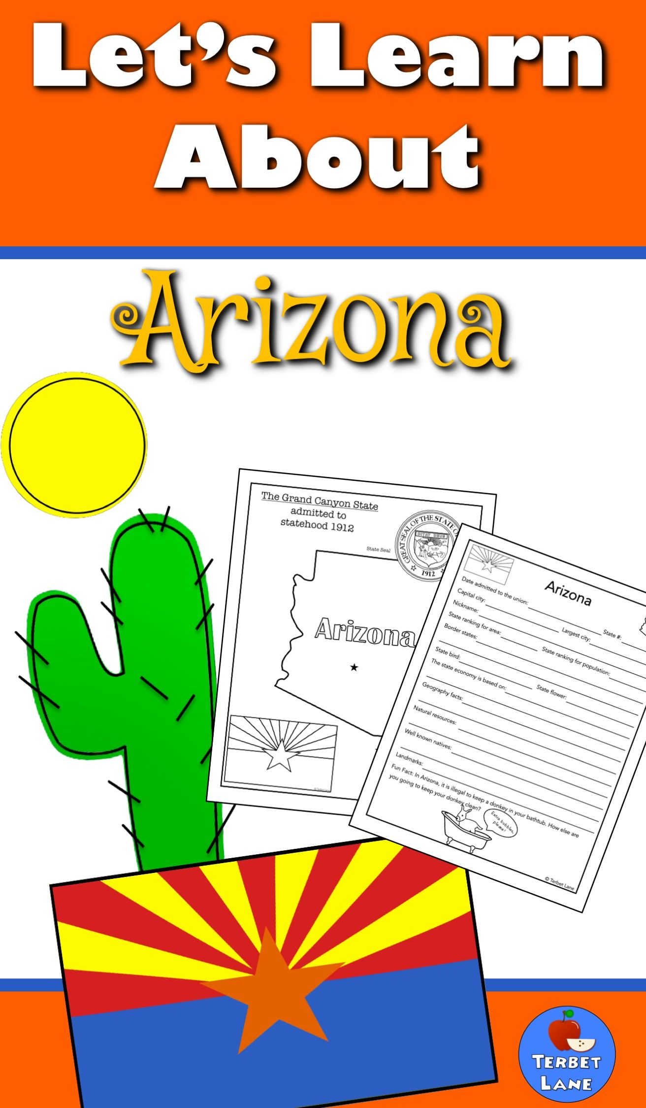 Arizona History And Symbols Unit Study With Qr Codes Pinterest